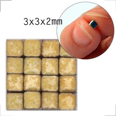 Mosaik-Minis (3x3x2mm), 500 Stück, Zitronengelb, RY01 von ALEA Mosaik auf TapetenShop