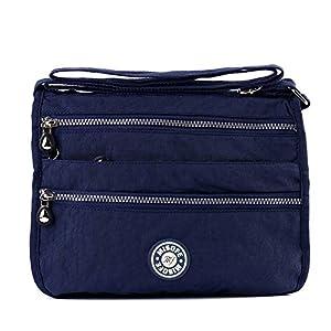 Bolso de mensajero estilo bandolera, para Mujer, estilo Casual, de nailon, con varios bolsillos, bolso de mano de viaje