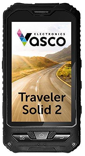Vasco Traveler Solid 4: Extrem robuster Übersetzer für 29 Sprachen, mit Spracherkennung, Gratis-Telefon, GPS Navi, wasserfest, staubdicht, stoßfest
