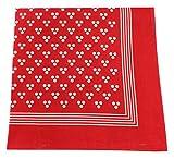 Tobeni 548 Bandana Nickituch in 100 Baumwolle für Damen und Herren Farbe Triple-Point Rot Grösse 54 cm x 54 cm