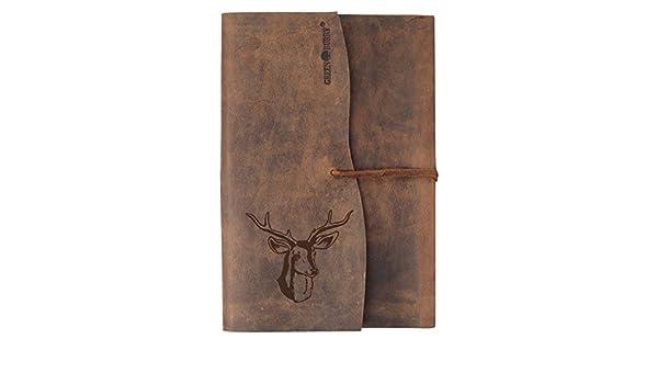 Greenburry Vintage Lederbuch Braun 23x17x2 cm Notizbuch Tagebuch  Skizzenbuch