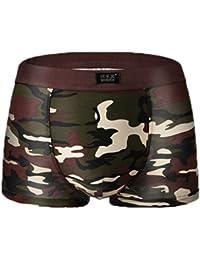 Smile YKK Homme Boxer Camouflage Respirant Doux Elastique Model Sous-vêtement Slip