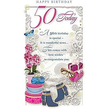 Carte Anniversaire 50 Ans Femme