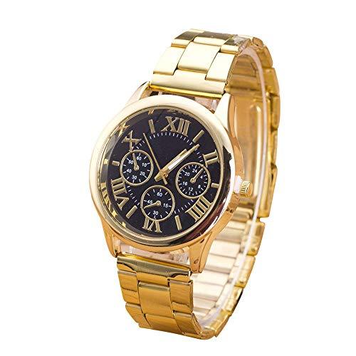 linqi1164 Uhren Damen Herren Armbanduhren für Frauen Damen Geschäft Kleid Uhr Edelstahl Mesh-Metallband Uhren Quarz Damenuhr Damen-Armbanduhr Analog Quarz Unisex Uhr Damen für Frauen