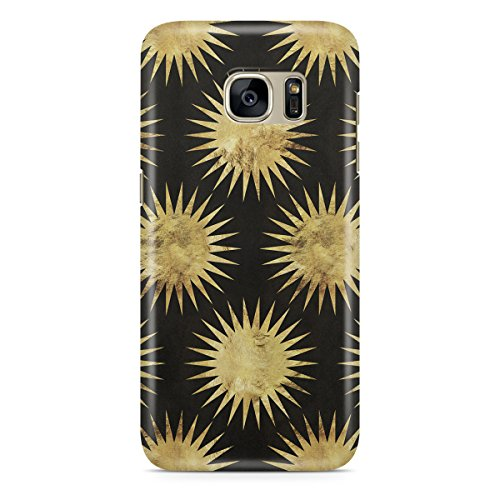 Queen Of Cases Coque pour Apple iPhone 5 C - Feuille Or Starburst - Premium Noir en plastique