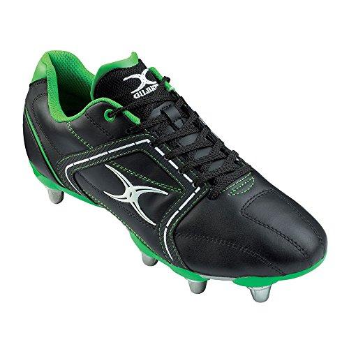 Gilbert , Chaussures de rugby pour homme Noir