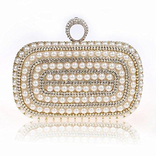 borsa da sera frizione nuovo sposa mini anello pacchetto perline diamante borsa banchetto ( Colore : Nero ) Oro