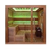 EO-SPA Sauna B1243B rote Zeder/200x180/9kW EOS BiO-Thermat