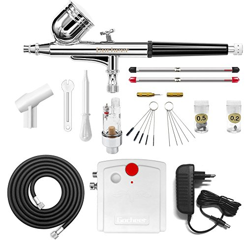 Airbrushing Supplies Bright Gocheer Airbrush Universal Replaceable Nozzle And Needle 0.2mm 0.3mm 0.5mm Kit