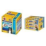 Pedigree DentaStix + Pedigree DentaFlex / Hundeleckerli für Hunde / Kausnack gegen Zahnbelag für große Hunde