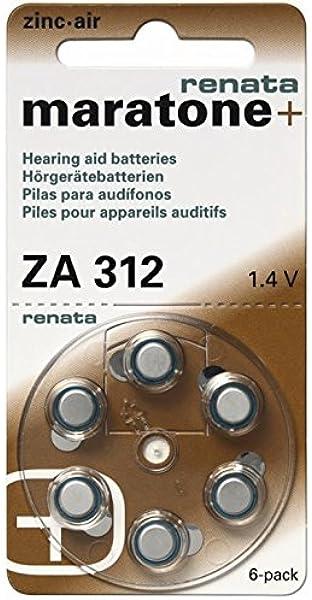 60 Stück Renata Za 312 Hörgerätebatterie 180 Mah 1 4 Elektronik