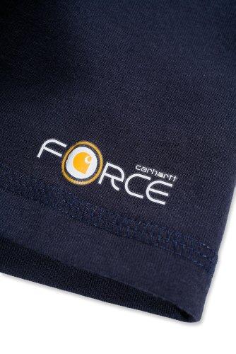 Carhartt Force® Cotton Short Sleeve T-Shirt Baumwolle mit Brusttasche 100410 Dunkel Blau