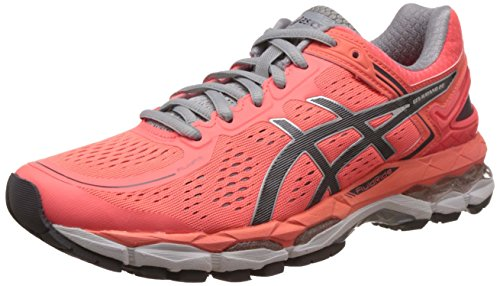 Asics Women's Gel-Kayano 22 Flash Coral, Carbon and Silver Grey Running Shoes -5 UK/India (38 EU)(7 US)  available at amazon for Rs.7225