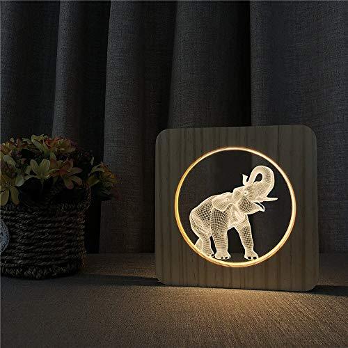 Elefant Tier Acryl Holz Nachtlicht Gravur Lichtschalter Gravur Licht Kinderzimmer Dekoration Geschenk