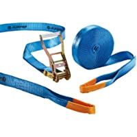 Slackstar SL81792-15 - Kit para práctica de slackline para niños y principiantes (2 unidades, 15 m x 50 mm), color azul