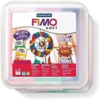 Staedtler FIMO Soft, Pâte à Modeler Extrêmement Souple, Facile à Démouler, Durcissant au Four, Class pack de 26 pains de 57 grammes en 11 Couleurs Assorties, 8023 50 LX
