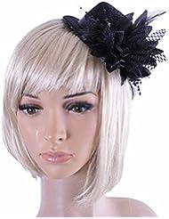 Yogogo Mode Femmes Party Bridal Head Hair Clip Barrette Hat Headband Accessoire cheveux