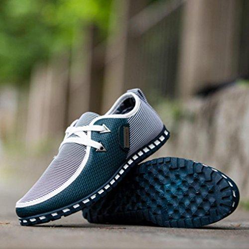 Familizo-Scarpe Fami Fashion New Man Autumn Shoes Casual Shoes Mixed Colors Flats Scarpe Traspiranti Verde