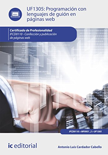 Programación con lenguajes de guión en páginas web. IFCD0110 por Antonio Luís Cardador Cabello