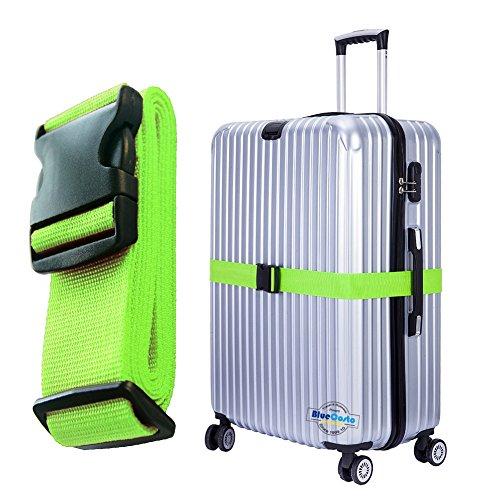 BlueCosto 1枚-グリーン スーツケースベルト 荷物ベルト 600016-GRE