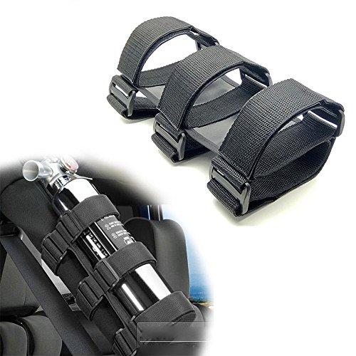 Aolvo estintore rollbar estintore da 1,1kilogram supporto staffa auto veicolo del estintore con cinghia regolabile e fibbia per auto/camion/jeep wrangler/rv/utv//cj/jk/tj (nero) nero