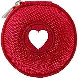 Mini-Etui - I love - Herz, nur 7cmØ, z.B. Hülle für iPod Shuffle oder Case für Ohrhörer, bzw. Kopfhörer (iPhone, iPod, iPad, S3 etc.) oder für SD-Karte, USB-Stick