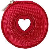Mini-Etui - I love - Herz, nur 7cm, z.B. Hülle für iPod Shuffle oder Case für Ohrhörer, bzw. Kopfhörer (iPhone, iPod, iPad, S3 etc.) oder für SD-Karte, USB-Stick