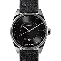 MEDOTA Grancey Men's Automatic Water Resistant Analog Quartz Watch - No. 2902 (Silver/Black)