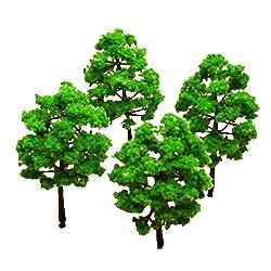 Generic Model Tree Train Set Plastic Trunks Scenery Landscape HO N - 10PCS