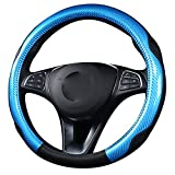 XuanMax Sport Lenkradbezug Auto 38cm Universal Lenkrad Abdeckung Rutschfest Lenkradhülle 15 Inch Lenkradschoner Atmungsaktiv Lenkradabdeckung Lenkradschutz - Blau