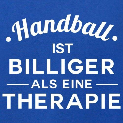 Handball ist billiger als eine Therapie - Herren T-Shirt - 13 Farben Royalblau