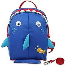 Yodo Playful Cajas de almuerzo bolsa de los niños o preshool infantil mochila, con arnés de seguridad Riendas, con forro interior multicolor multicolor