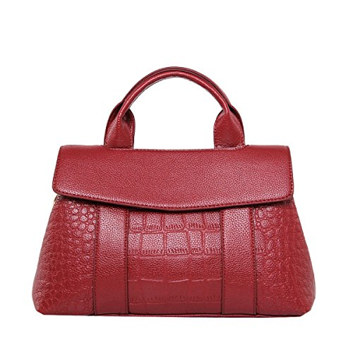 Art Und Weise Krokodil Drucken Top-Griff Umhängetasche Umhängetasche Handtasche Für Frauen Multicolor Red