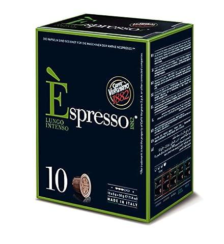 Caffè Vergnano 1882 E'spresso Lungo Intenso, 4er Pack (4 x 10 Kapseln, 4 x 50 g)