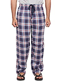 Twist Men's White And Blue Checked 100% Cotton Pyjama Sleepwear Night Wear With Contrast & Free Shipping