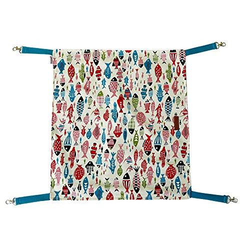 lskcsh beide Seiten können verwendet werden Fisch Katze Hängematte Bett bequem Ratte Katze Hängematte Käfig Aufhängen Bett unter Stuhl Käfig Pad Matte Decke (Stoff Abgedeckt Stühle)