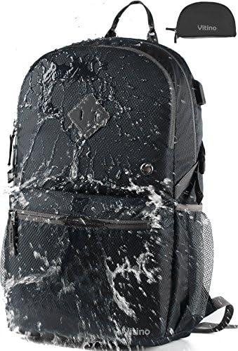 1a0f56fb4a Vitino Zaino con porta di ricarica USB impermeabile impermeabile  impermeabile leggero Packable zaini per viaggi escursioni - Basic borsa per  donne uomini, ...