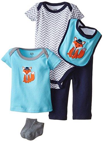 HUDSON BABY 58101 Baby Bekleidungs Set 5-teilig Fuchs blau Größe: 0-3 Monate