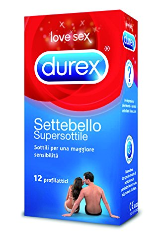 Durex Settebello Super Sottile Preservativi, 36 Profilattici (3 Confezioni da 12 Pezzi)