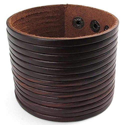 sen 7,5 Zoll 8,5Zoll Stulpe Armband Le Breite Brown Herrenschmuck ()