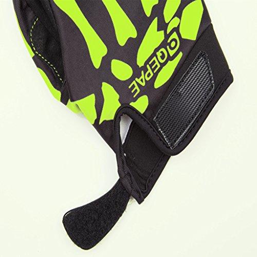 Lerway MTB Fahrrad Voll Finger warmen Radsport Fahrrad Handschuhe Herren Motorrad Vollfingerhandschuhe Herren Fahrradhandschuhe (Grün-M) - 8
