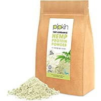 Pipkin 100% Organic Hemp Seeds Protein Powder 300g, Pure Non-GMO Natural 60% Plant Based Vegetarian & Vegan Hemp Protein Powder, Gluten- Lactose- and Diary-Free, Rich in Omega 3 6 9 and Fatty Acids, Ideal For Post Workout Protein Shakes, Smoothies, Sports Drinks, Diet Snacks & Nutrition Bars, Unblended and Unflavoured