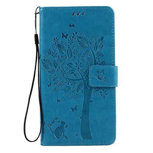 huawei-honor-v8-hulle-blau-im-retro-wallet-designcozy-hut-huawei-honor-v8-hulle-leadertasche-premium