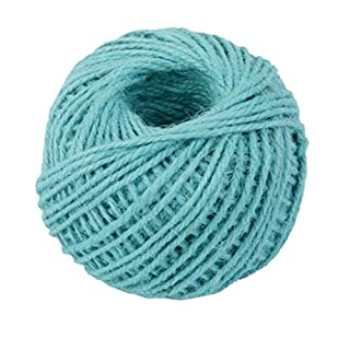 50M Wrap Gift Hemp Rope Ribbon Twine Rope Cord String Ball Blue