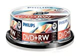 PHILIPS DVD+RW 4.7 GB Data / 120 min. 4X Spindle de 25