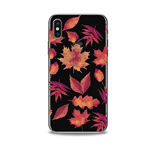 Coque iPhone X 2017 Housse étui-Case Transparent Liquid Crystal en TPU Silicone Clair,Protection Ultra Mince Premium,Coque Prime pour iPhone X 2017-La feuille Maple-style 9 5