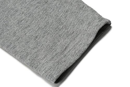 ADOME Herren Fleece Gefüttert Thermounterwäsche Flauschig Garnitur Winter Basic Unterwäsche Set Nachtwäsche Hemd und Hose Grau035 ohne Fleece
