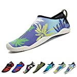 Upstartech Barefoot Water Shoes Mens Womens Quick Dry Unisex Sports Aqua Shoes Lightweight Durable Sole for Beach Pool Sand Swim Surf Yoga Water Exercise (9UK/43EU, Style 21)