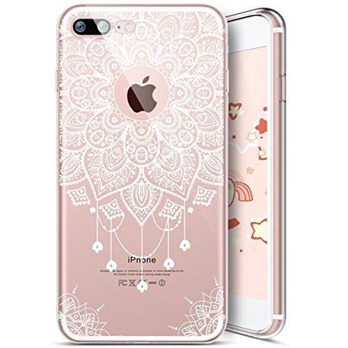 iPhone 6 Plus Coque,iPhone 6S Plus Coque,Housse de Téléphone pour iPhone 6 Plus/6S Plus,Etsue Silicone Étui Housse de Protection TPU [Liquid Crystal] [Renforcer Antichoc] Transprent Clear View Mandala Mandala 5#