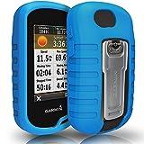TUSITA Cas pour Garmin Oregon 600 600t 650 650t 700 750 750T - Housse de Protection en Silicone Peau - Accessoires GPS Portables (Bleu)